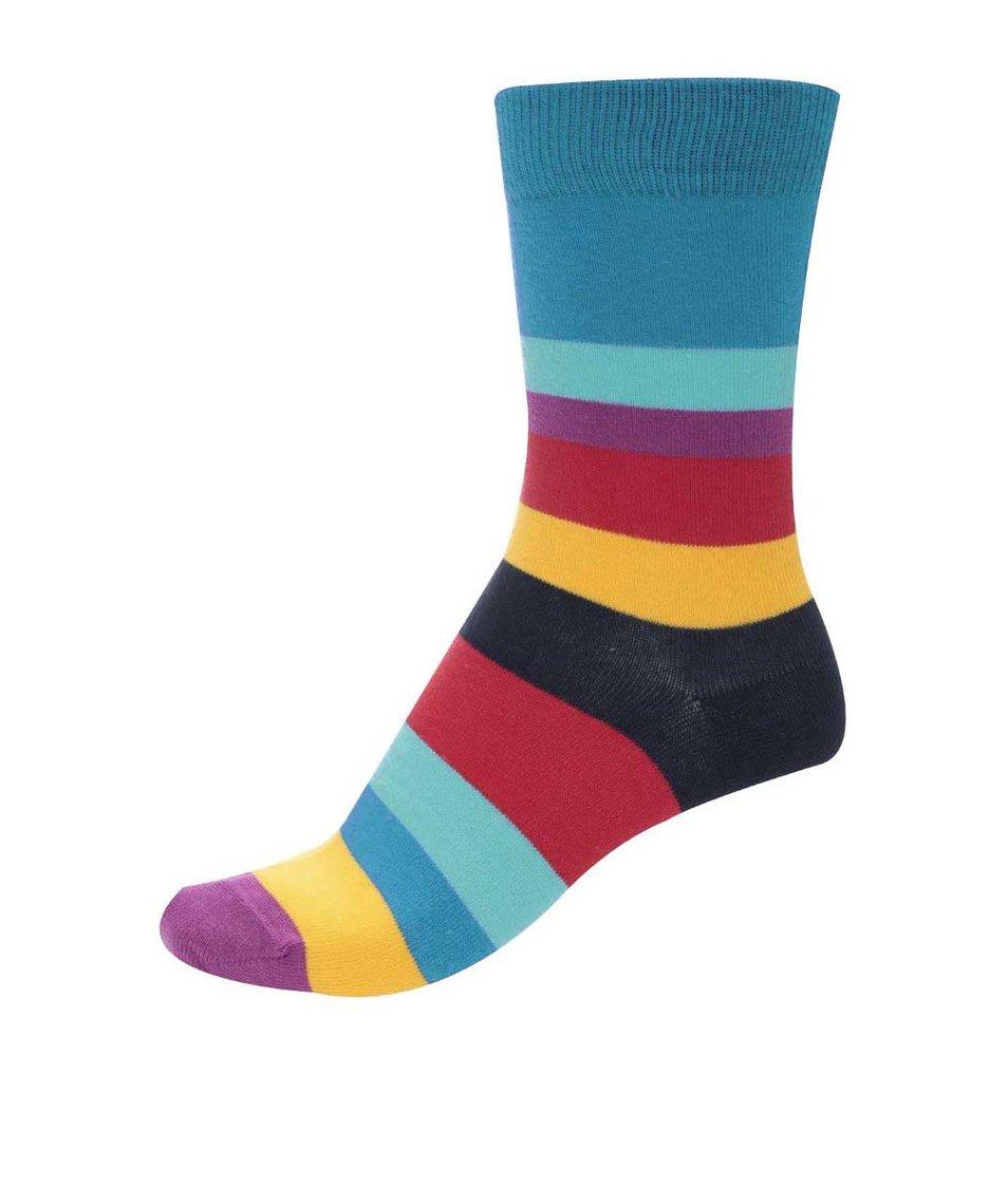Barevné unisex pruhované ponožky Ballonet Socks Carousel Full