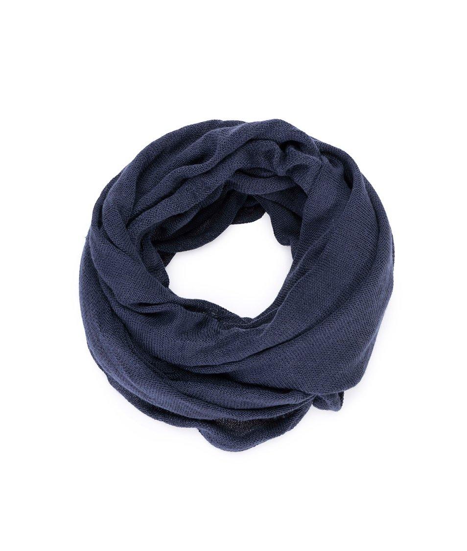 Tmavě modrý dutý šátek !Solid Kelly