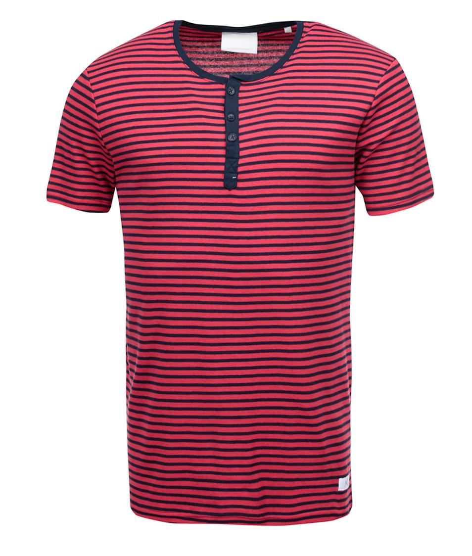 Černo-červené pruhované triko !Solid Knighton