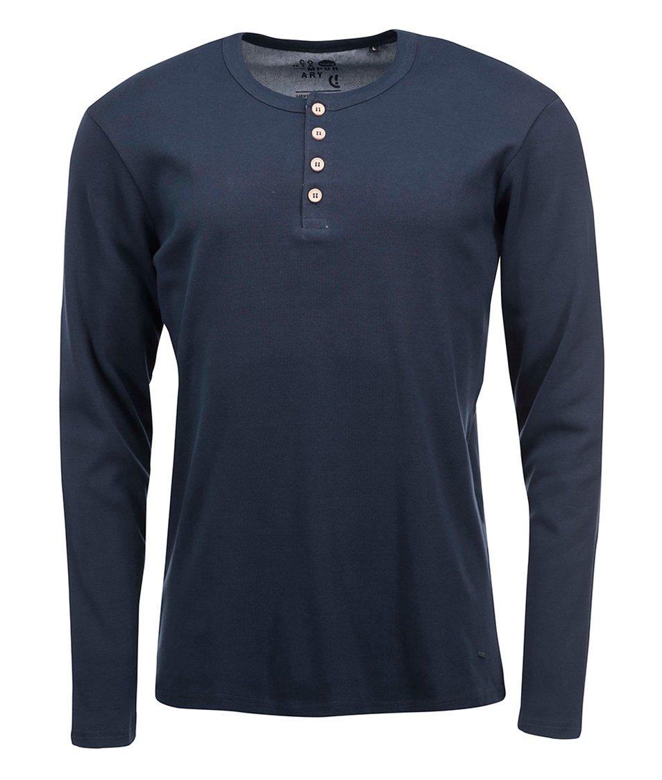 Tmavě modré triko s dlouhým rukávem !Solid Nybron