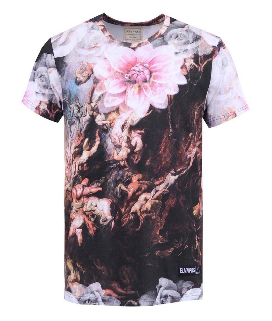 Barevné pánské triko s potiskem  Eleven Paris Hendri