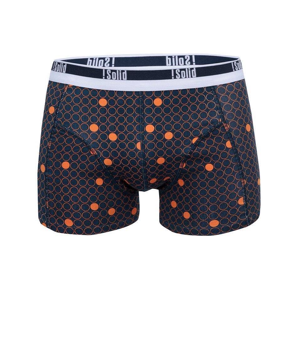Tmavě modré boxerky s oranžovými puntíky !Solid Niall