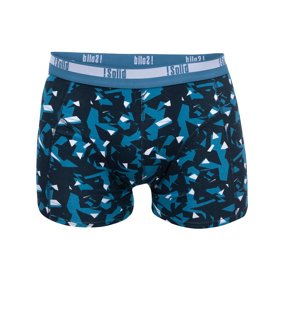 Černo-modré vzorované boxerky !Solid Mertan