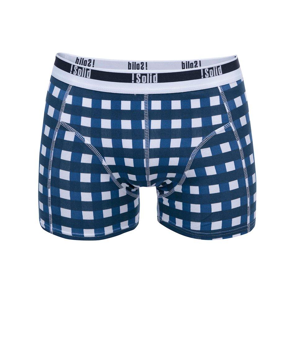 Bílo-modré kostkované boxerky !Solid Noian
