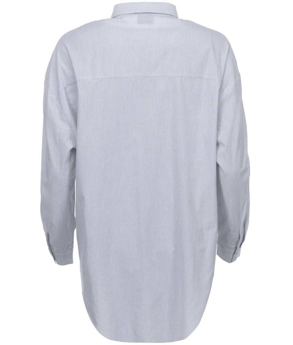 Bílá dlouhá košile s pruhy VILA New