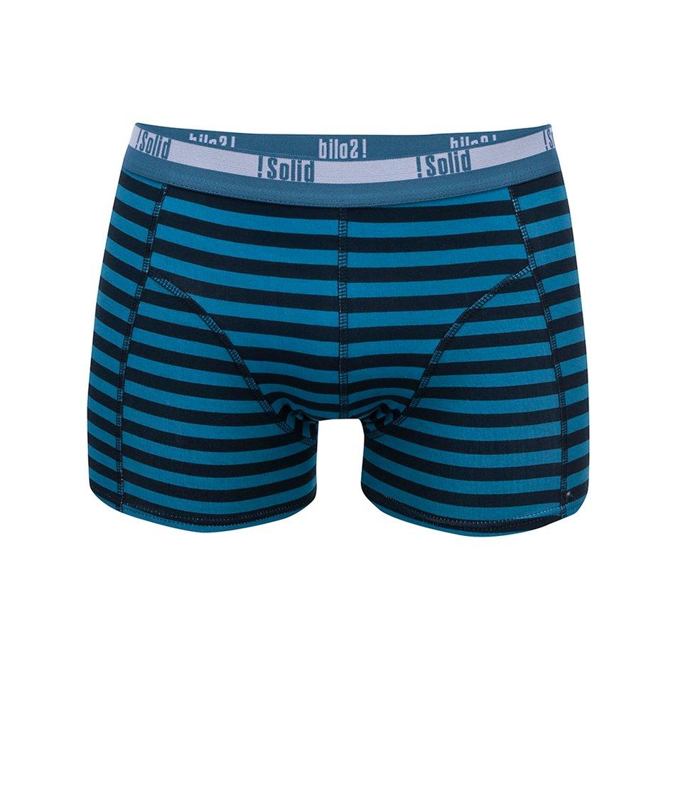 Modré pruhované boxerky !Solid Mertan