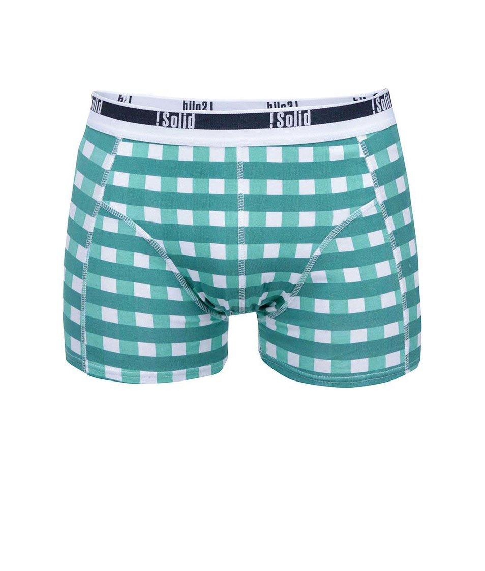 Bílo-zelené kostkované boxerky !Solid Noian