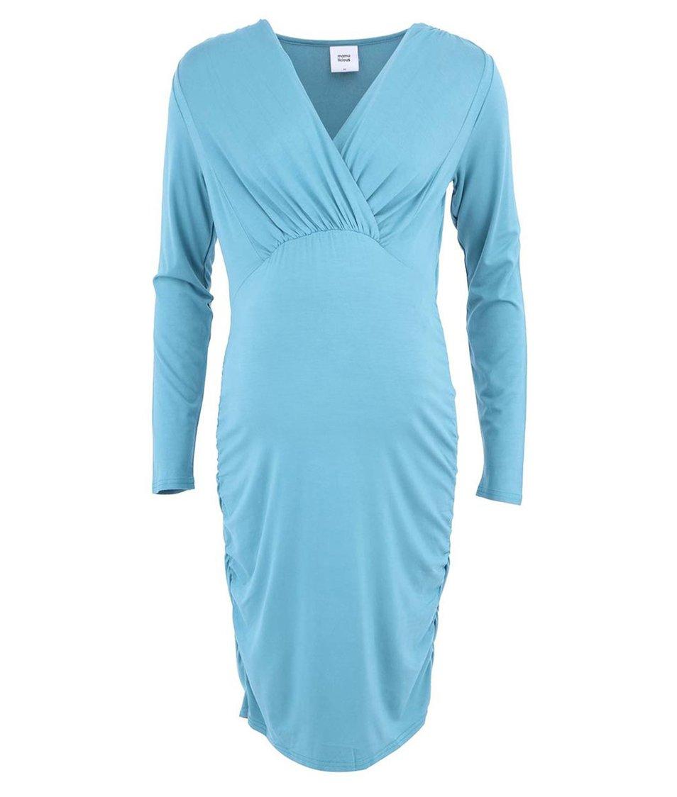 Tyrkysové těhotenské šaty Mama.licious Zigga