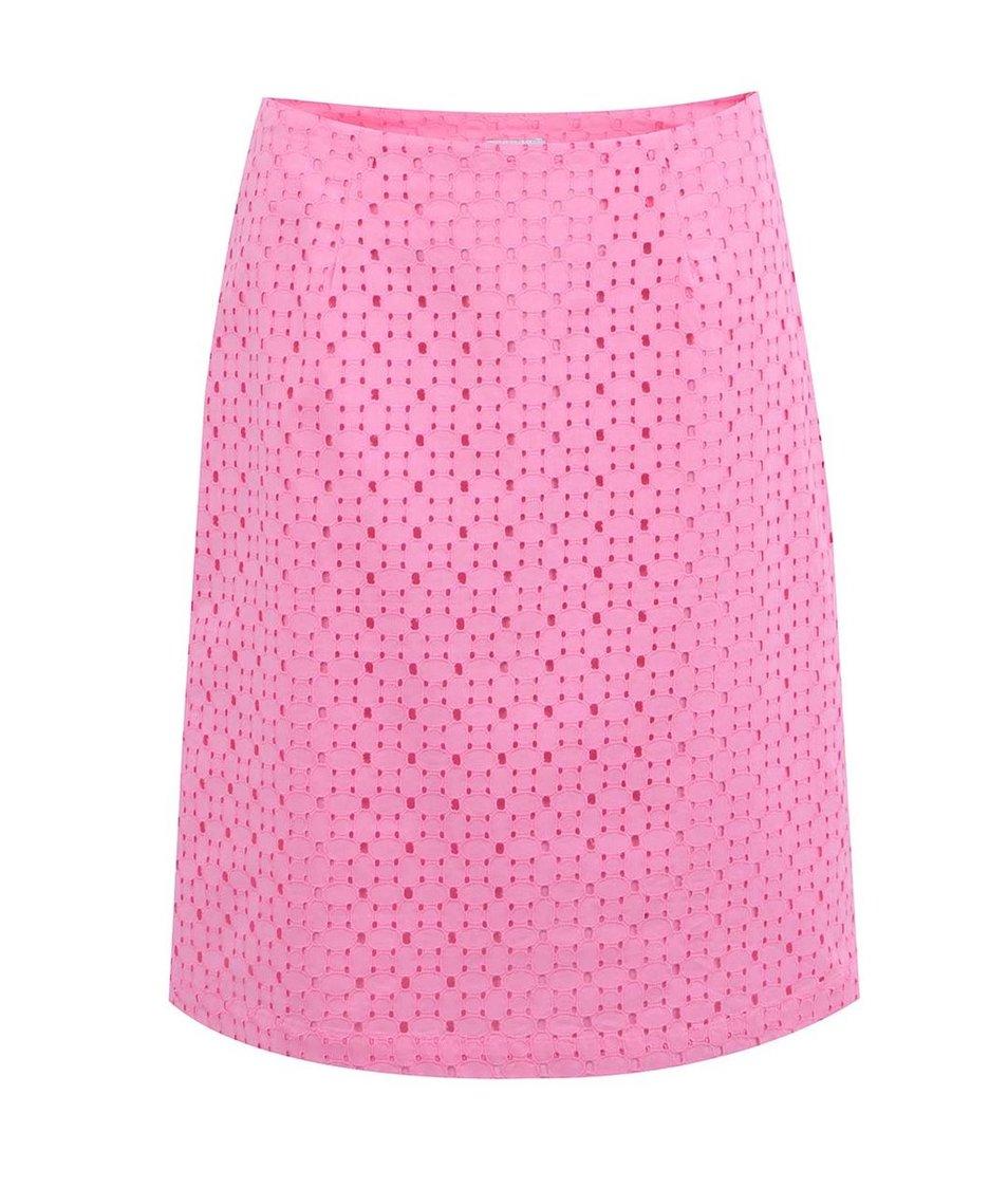 Růžová perforovaná áčková sukně Tom Joule Mae