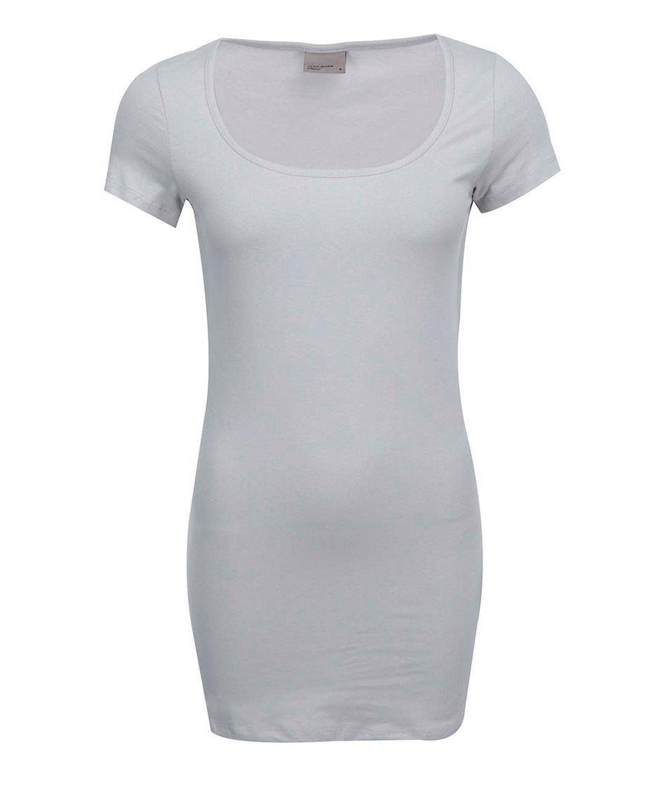 Šedé jednoduché tričko Vero Moda Maxi