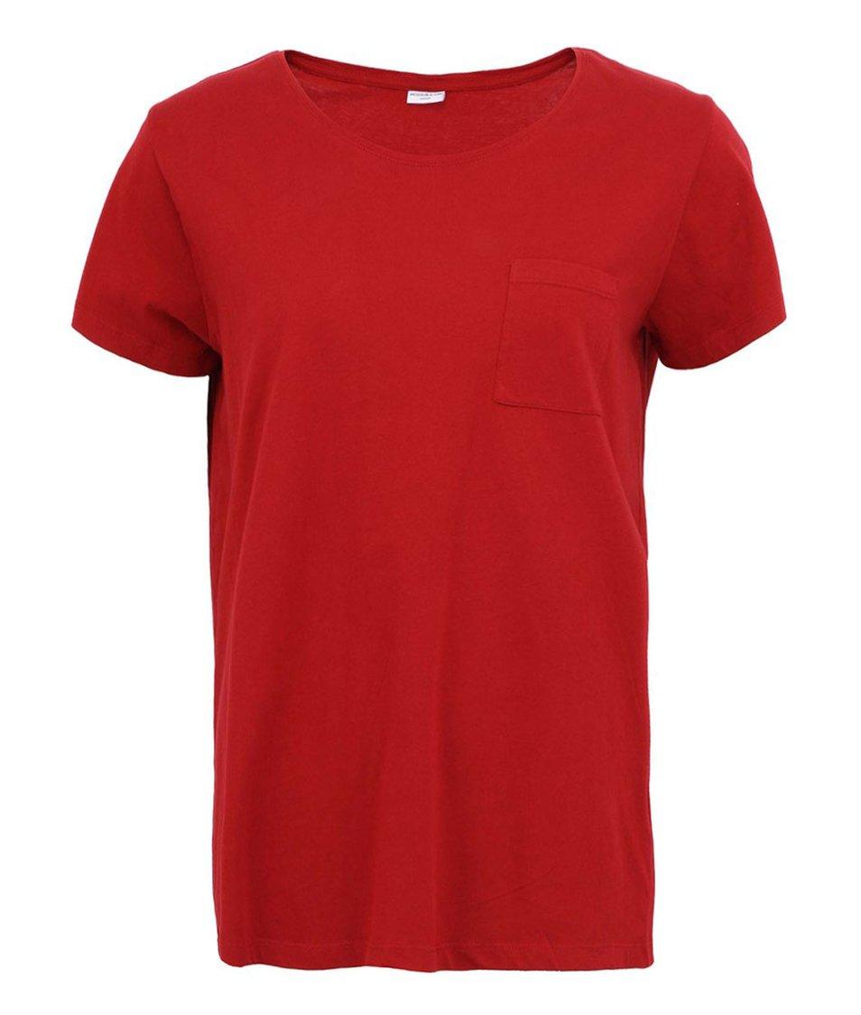 Červené triko JACQUELINE de YONG Venice