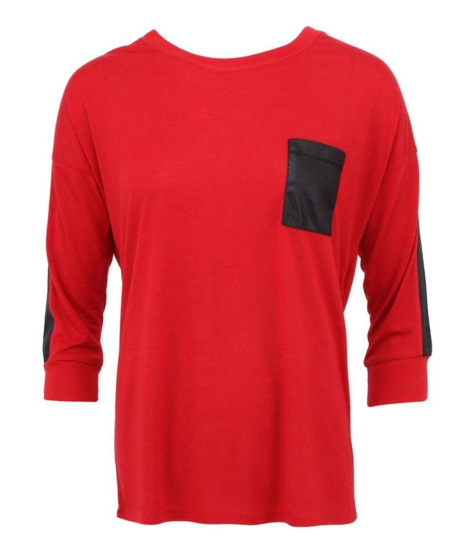 Červené triko s lesklými detaily Vero Moda Letta