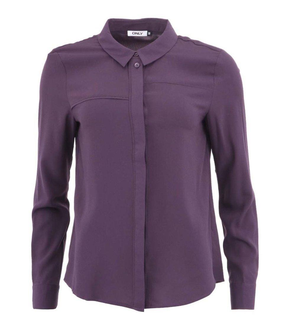Fialová volnější košile ONLY Jen