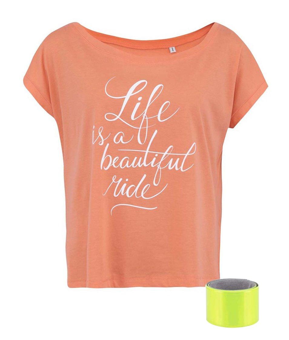 Korálové dámské tričko ZOOT Originál Life Is A Beautiful Ride