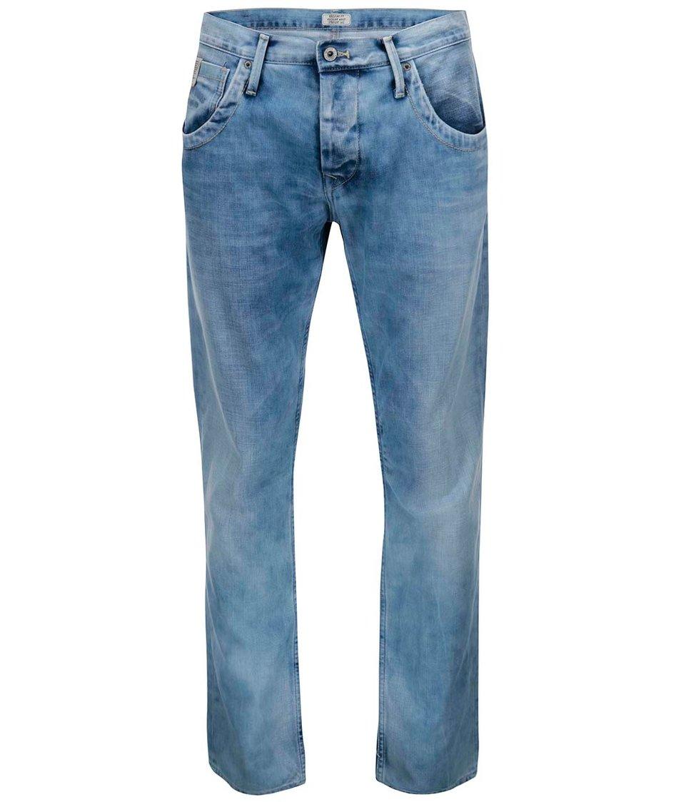 Světle modré pánské kalhoty Pepe Jeans Tooting