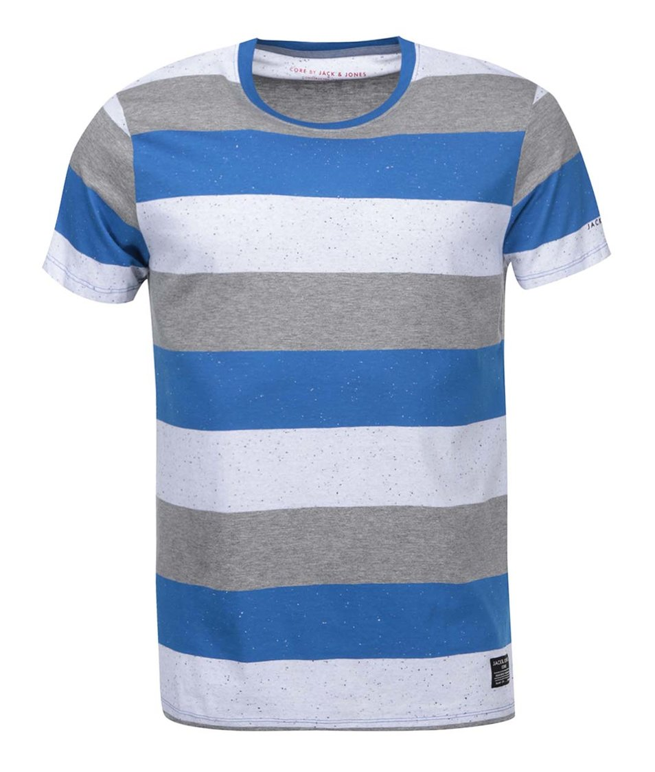 Modré pruhované triko Jack & Jones Ken