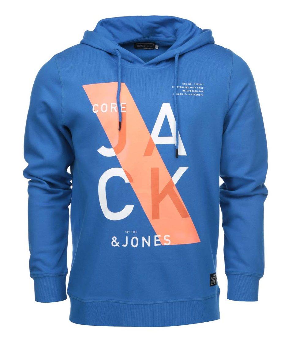 Modrá mikina s kapucí Jack & Jones Jori