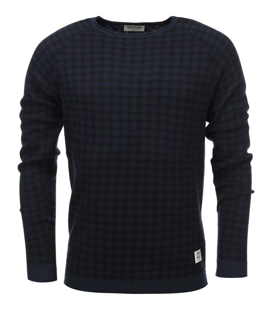 Černo-modrý svetr s kohoutí stopou Jack & Jones Star
