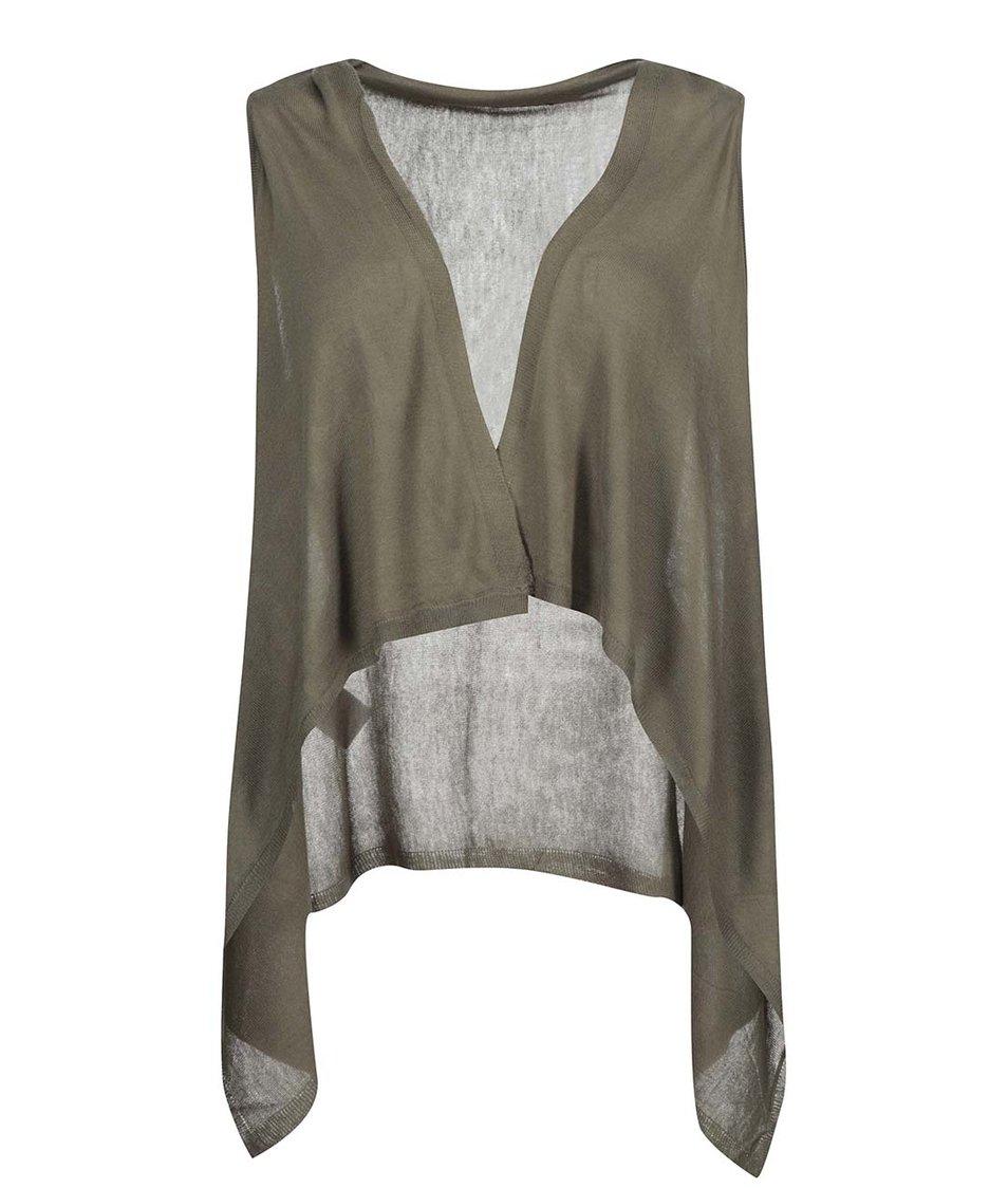 Khaki pletená vesta ONLY Once