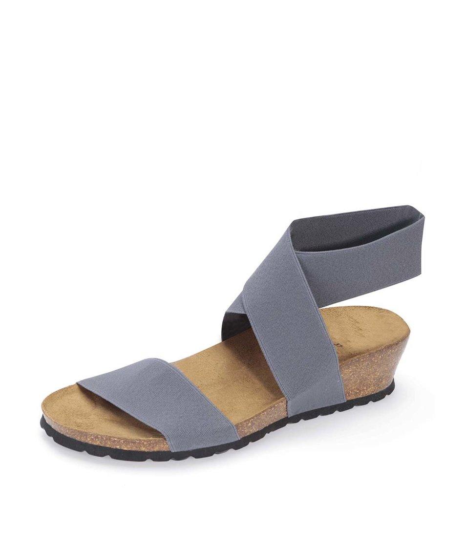 Šedé sandálky s překříženým páskem OJJU