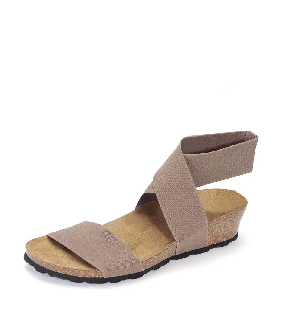Světle hnědé sandálky s překříženým páskem OJJU