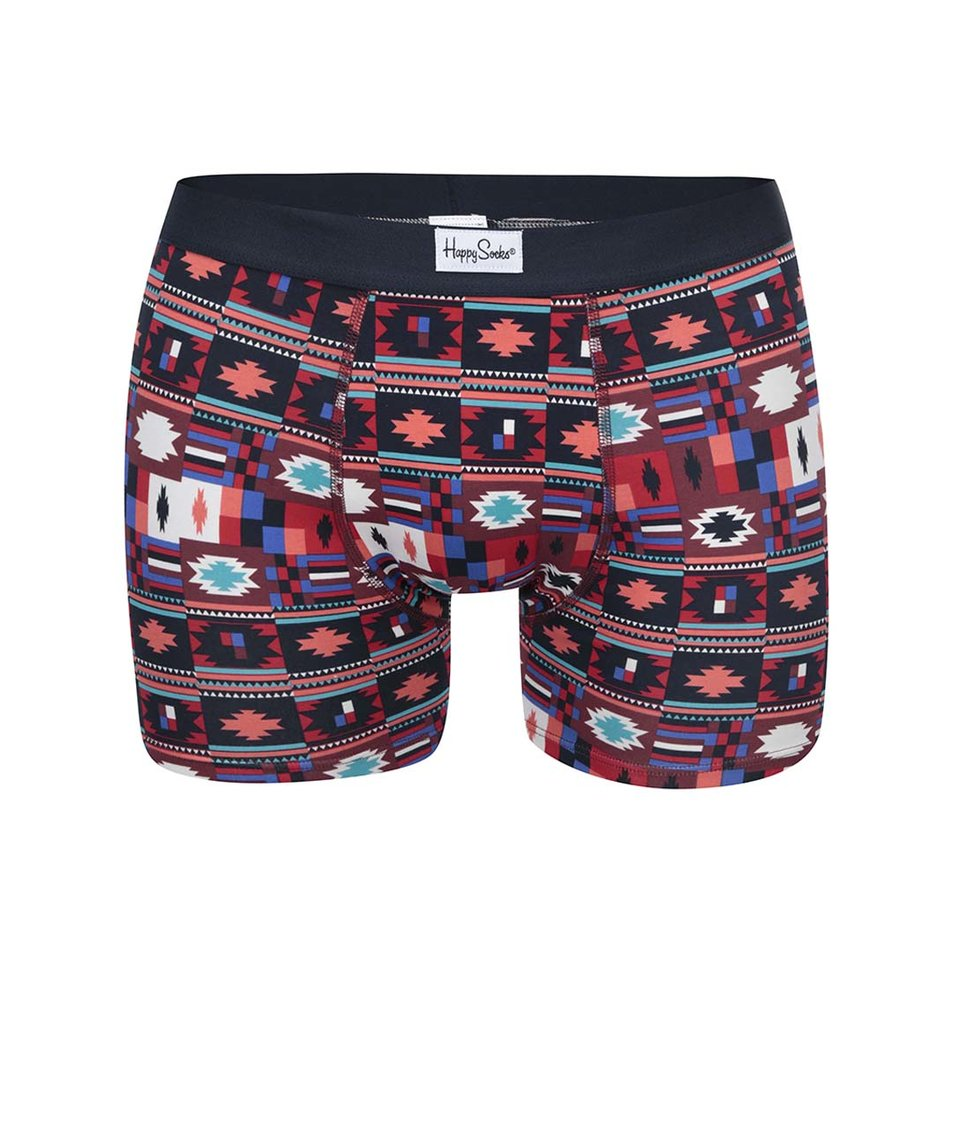 Barevné pánské boxerky se vzory Happy Socks