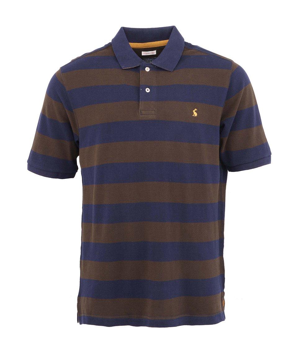 Hnědo-modré pánské pruhované polo triko Tom Joule Classic Fit