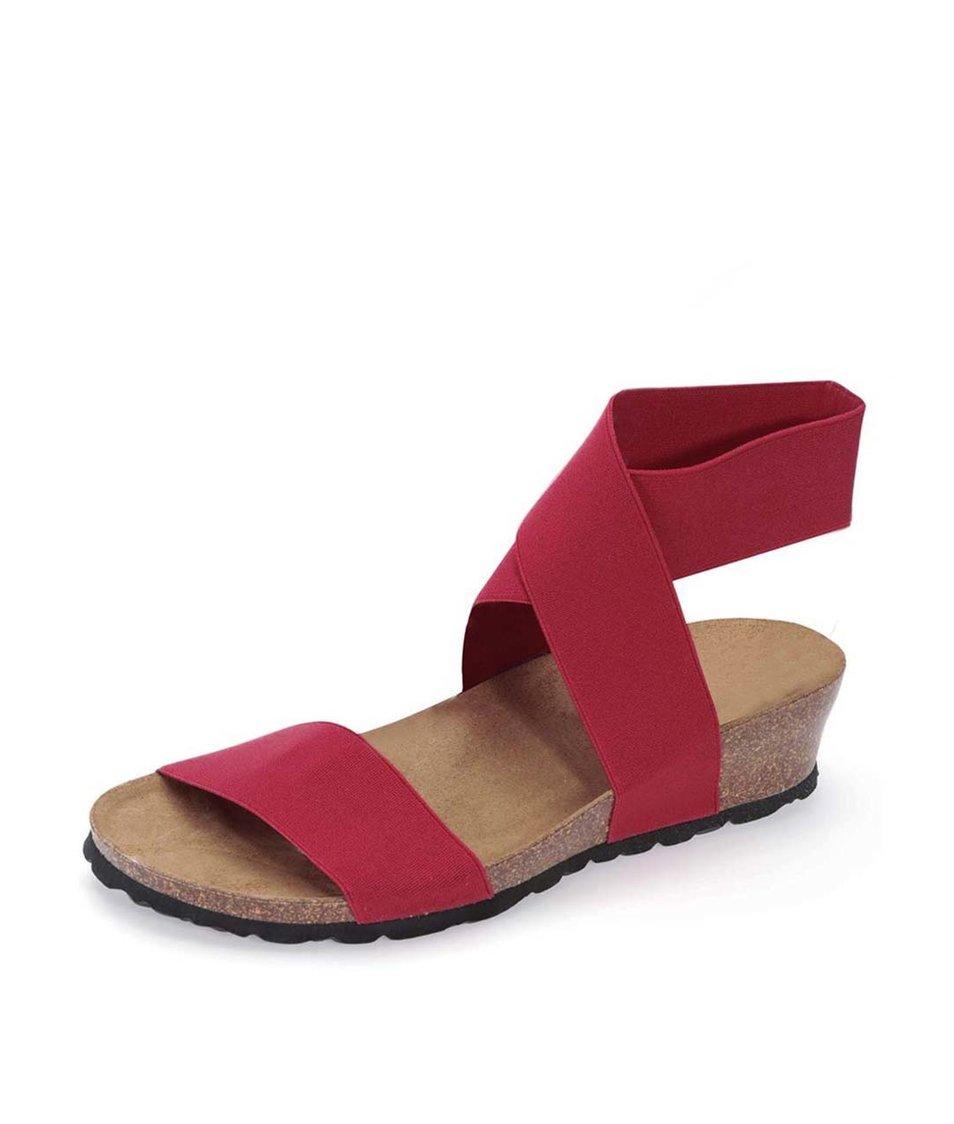 Červené sandálky s překříženým páskem OJJU