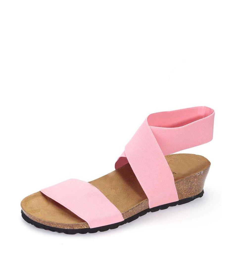Světle růžové sandálky s překříženým páskem OJJU