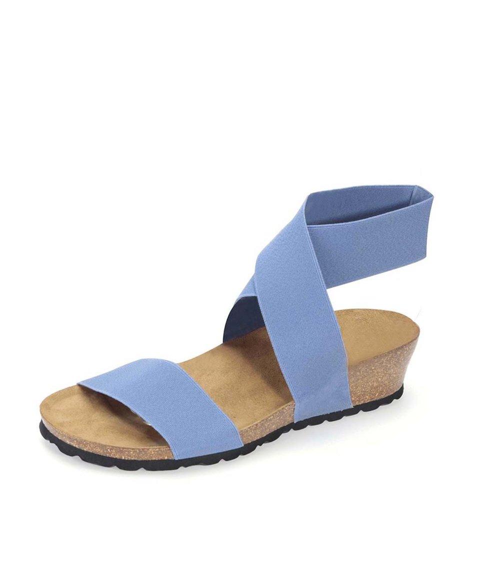 Světle modré sandálky s překříženým páskem OJJU