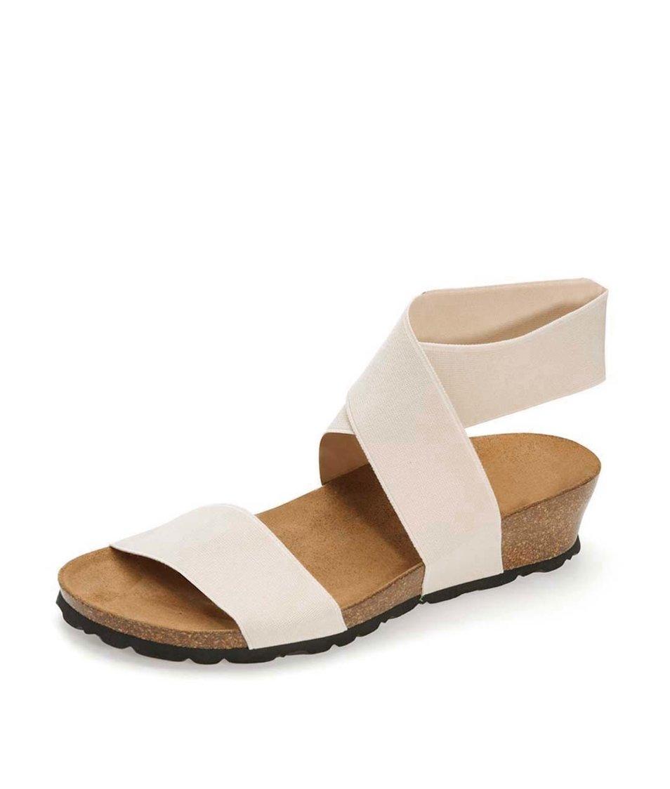 Světle béžové sandálky s překříženým páskem OJJU