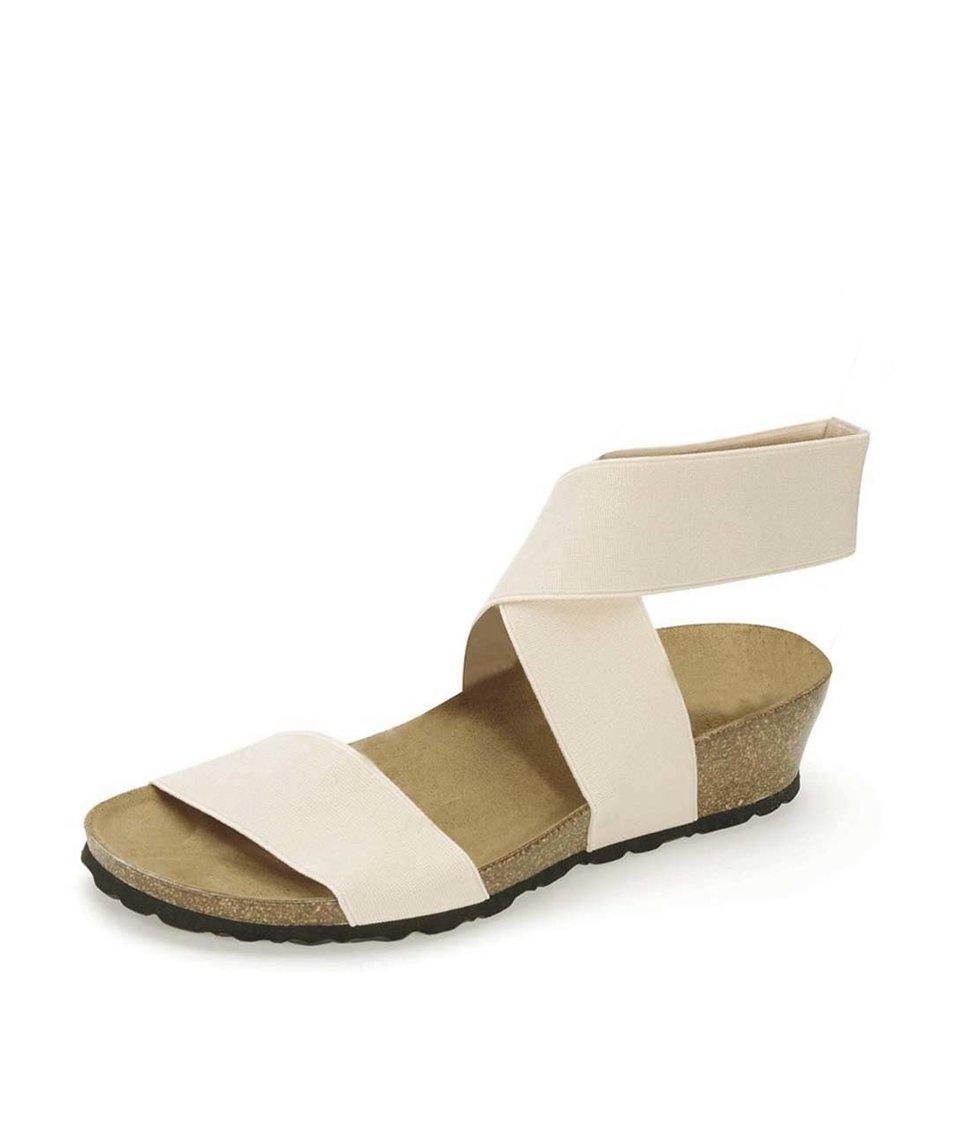 Krémové sandálky s překříženým páskem OJJU