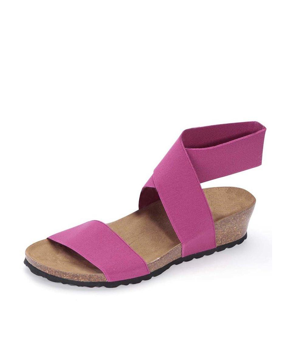 Růžové sandálky s překříženým páskem OJJU
