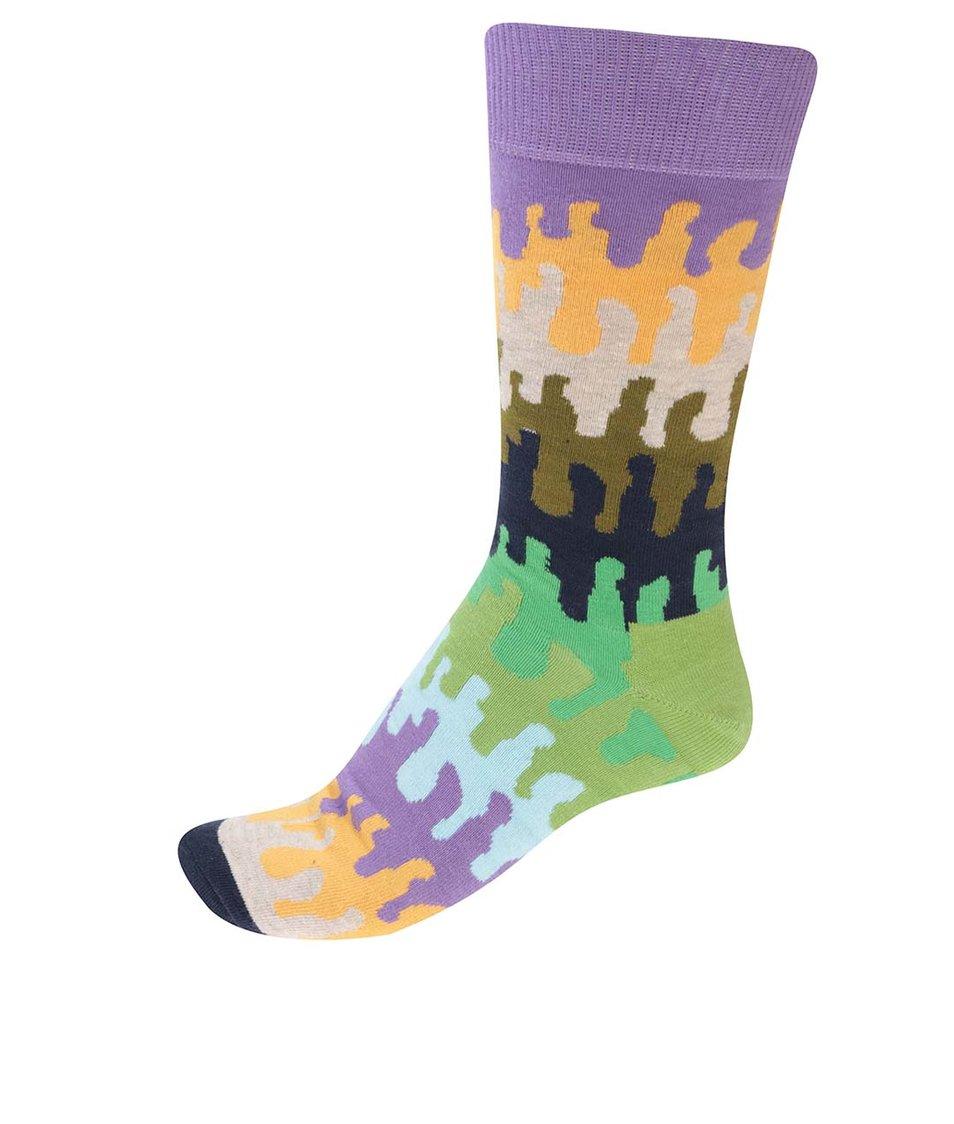 Barevné pánské vzorované ponožky Happy Socks Goo