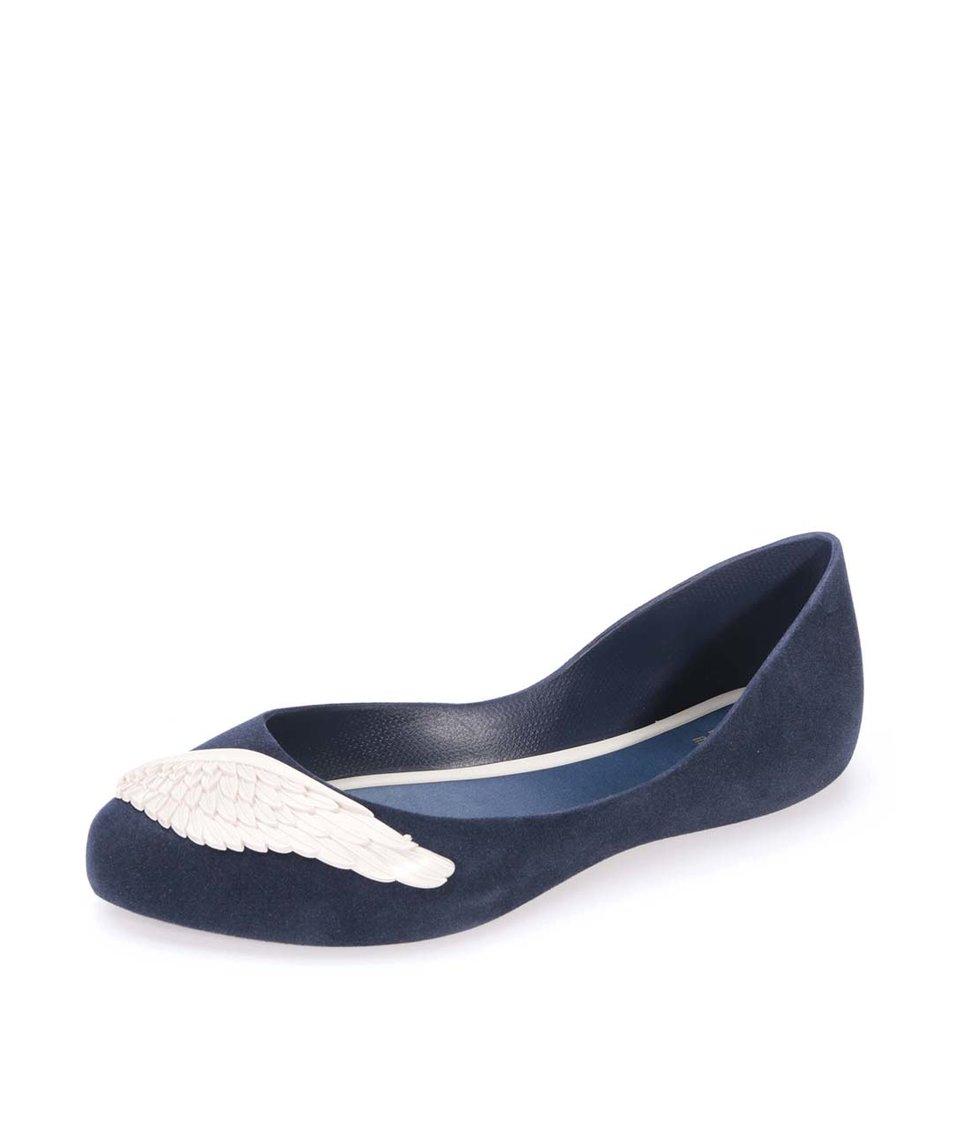 Tmavě modré semišové balerínky s křídly Mel Dreaming
