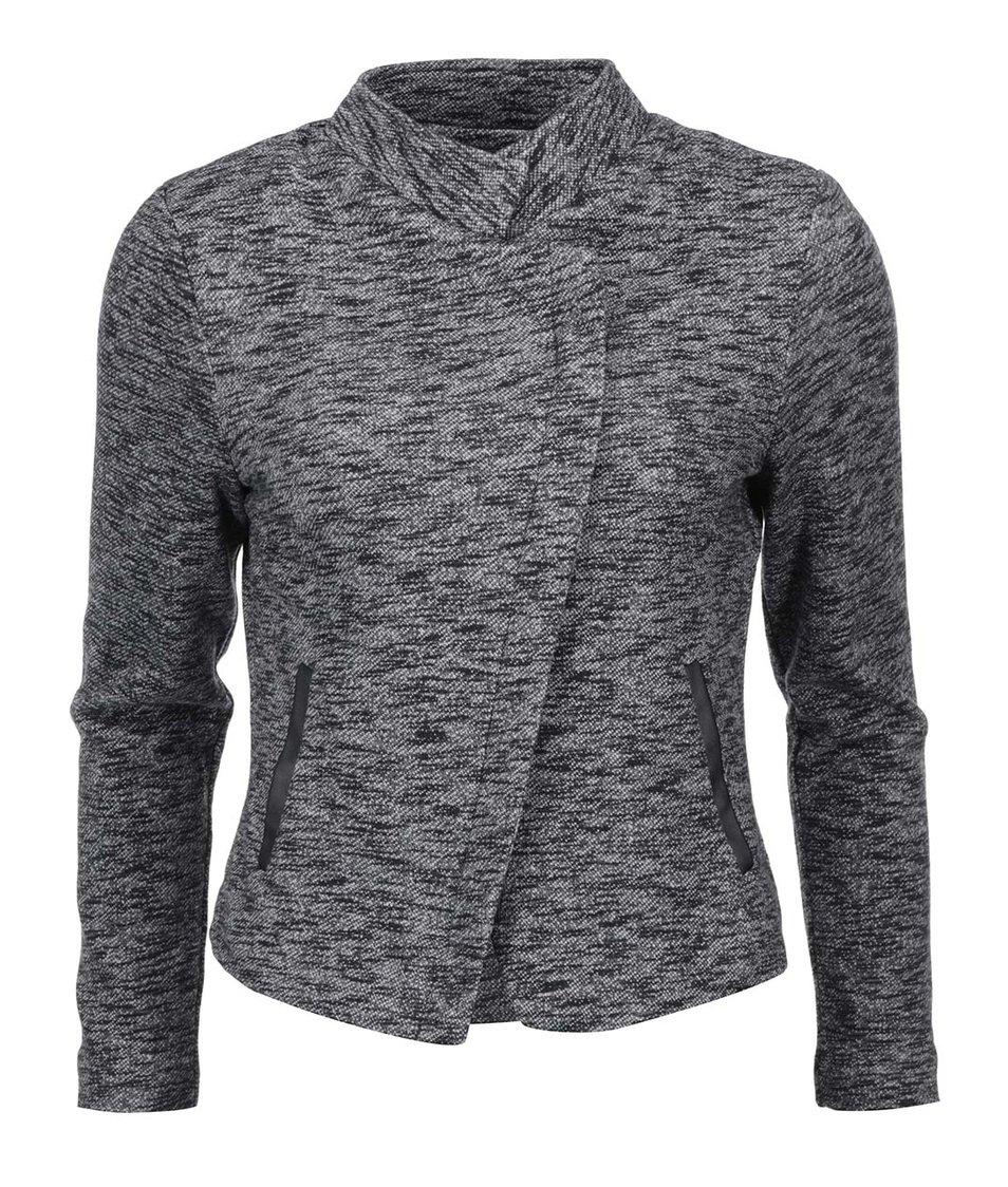 Tmavě šedý žíhaný blejzr Vero Moda Mei