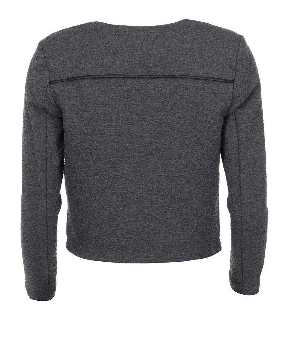 Tmavě šedý žíhaný blejzr Vero Moda Crissi