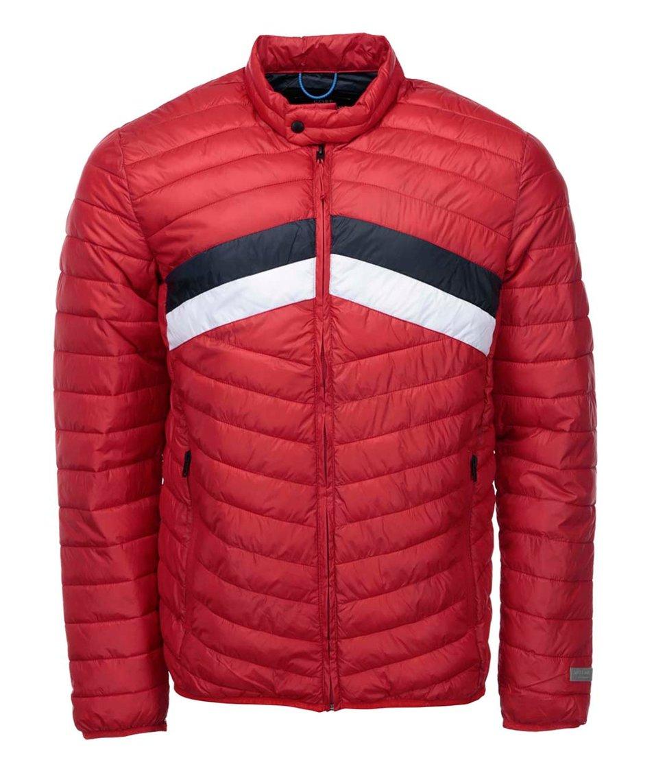 Červená prošívaná bunda Jack & Jones Cone