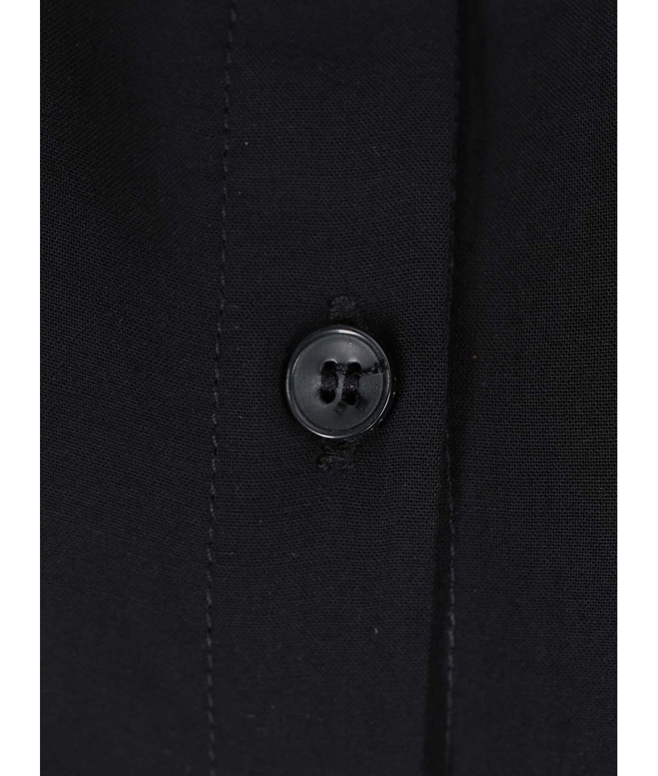 Černá dlouhá košile bez rukávů VILA Mask