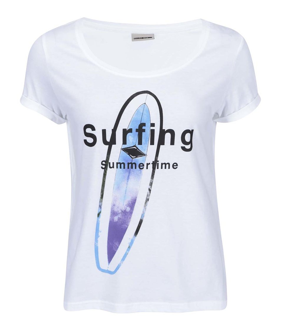 """Bílé tričko s nápisem """"Surfing"""" Noisy May Anton"""