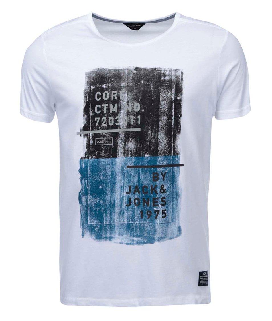 Bílé triko s nápisem Jack & Jones Hello