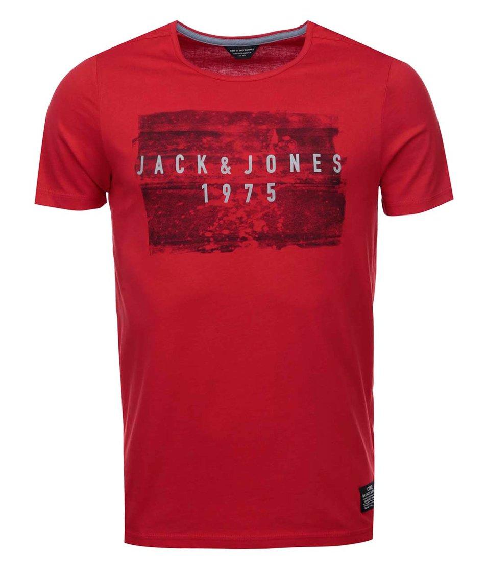 Červené triko s nápisem Jack & Jones Hello