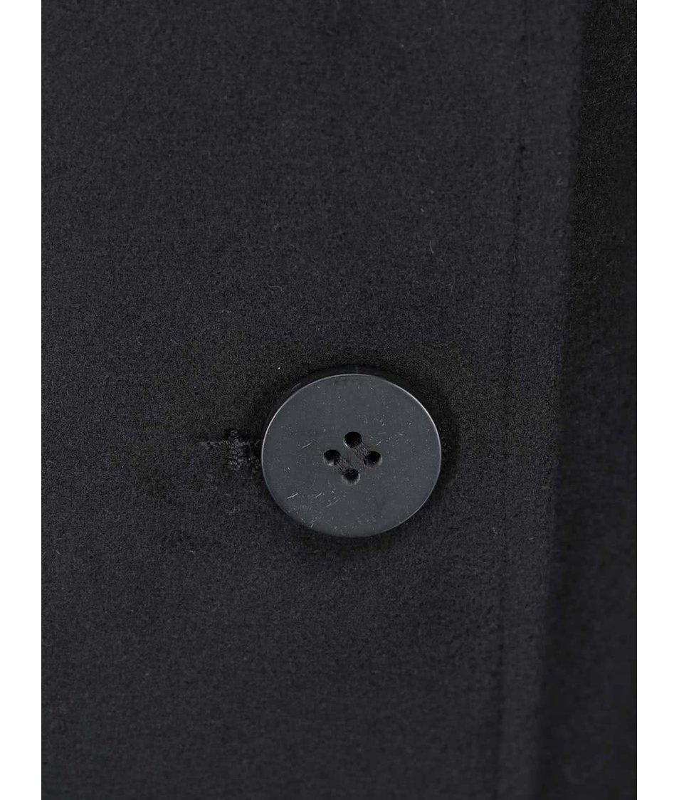 Černý dlouhý kabát VILA Kimra