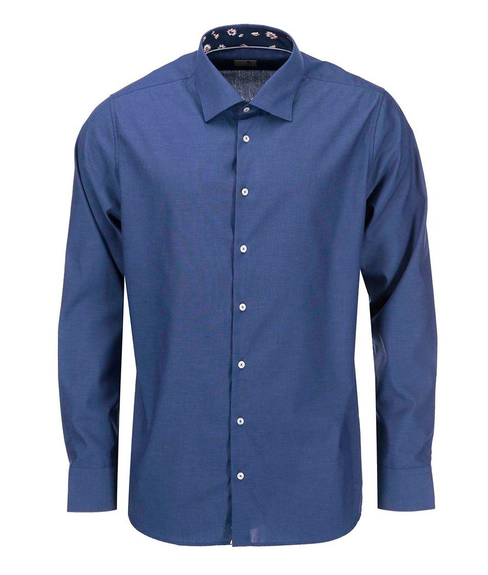 Modrá pánská košile Seidensticker Paul Panel Patch