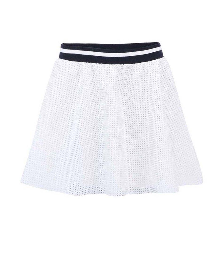 Bílá koženková sukně ONLY Sofie