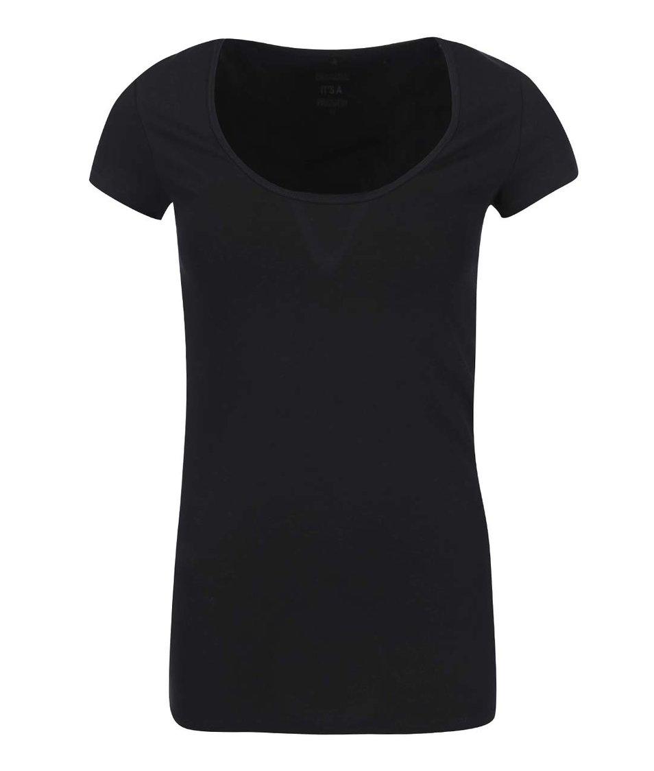 Černé tričko s kulatým výstřihem ONLY Live Love
