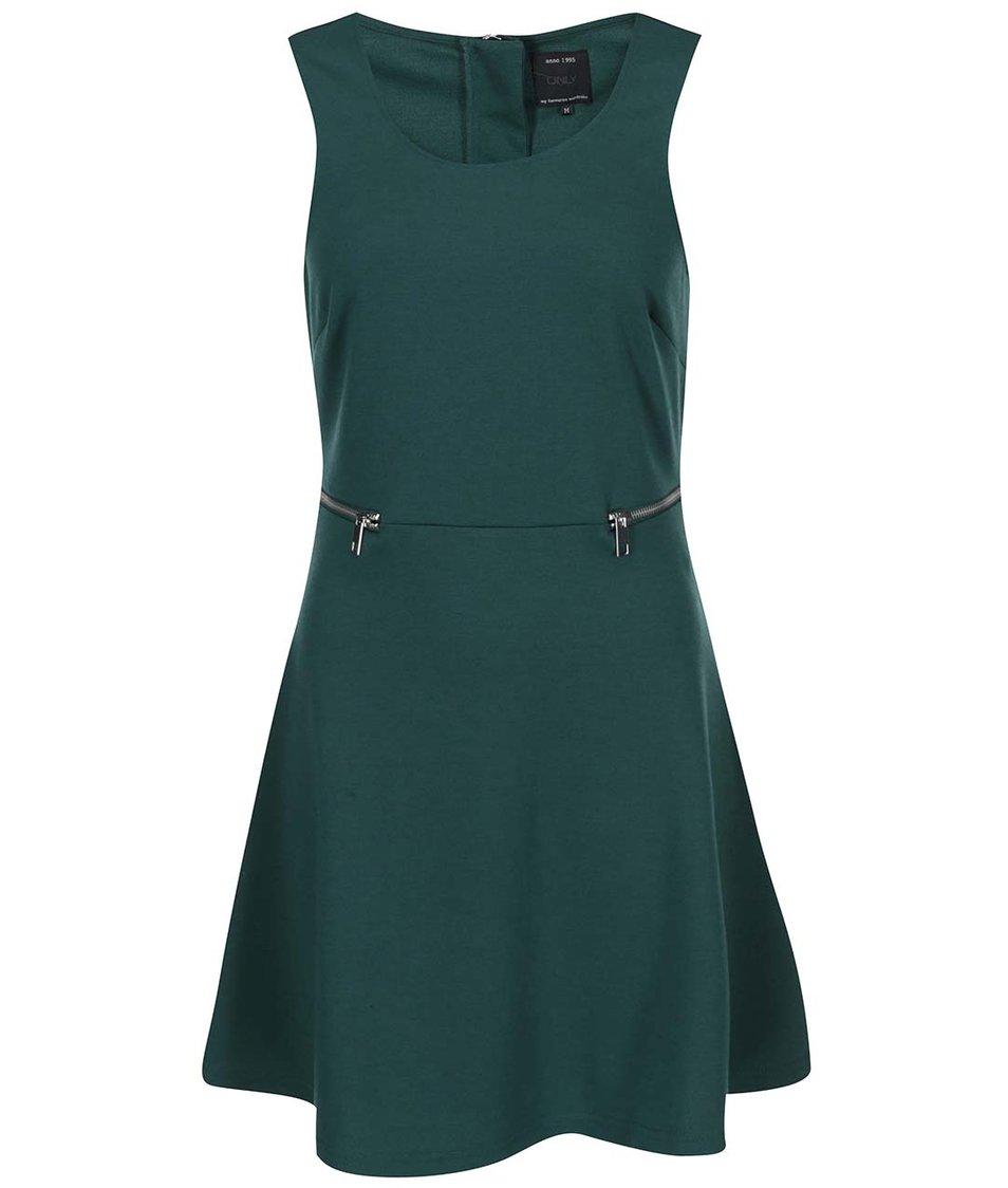 Tmavě zelené krátké šaty ONLY Olivia