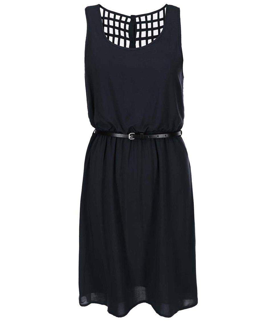 Černé šaty s páskem ONLY Verga