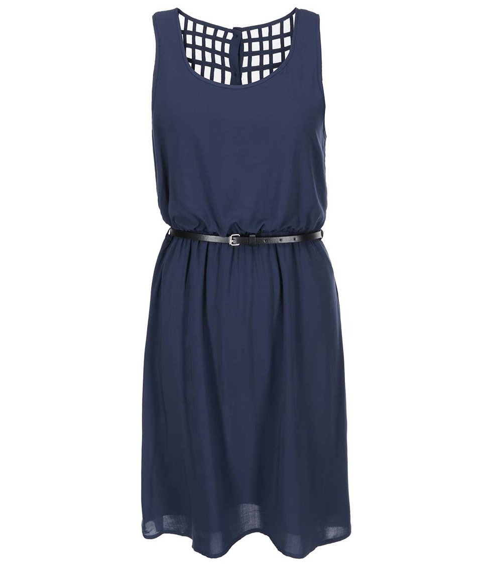 Modré šaty s páskem ONLY Verga