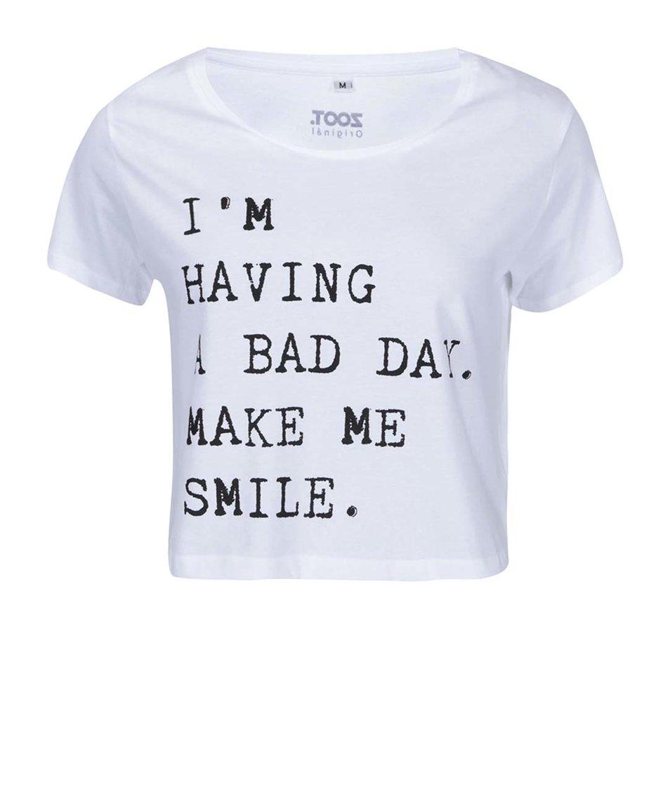 Bílé dámské tričko s nápisem ZOOT Originál Bad Day